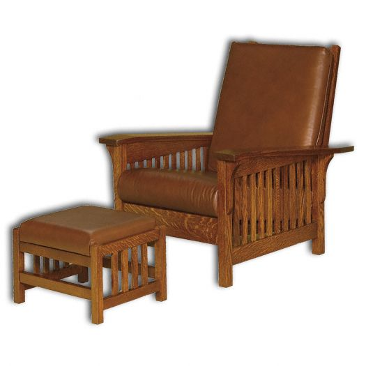 Amish USA Made Handcrafted Clearspring Slat Morris Chair sold by Online Amish Furniture LLC