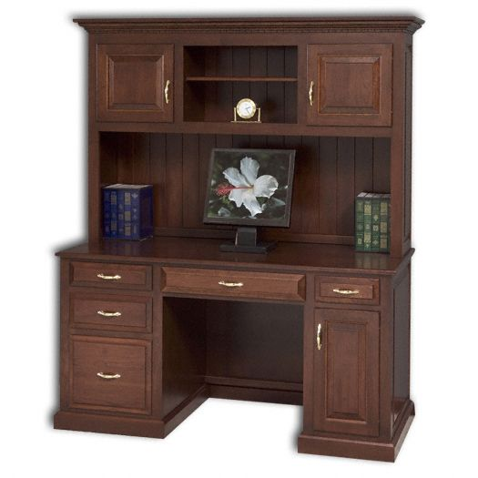 Amish USA Made Handcrafted Traditional Computer Desk sold by Online Amish Furniture LLC