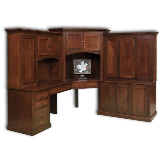 Amish USA Made Handcrafted Deluxe Mission Computer Desk sold by Online Amish Furniture LLC