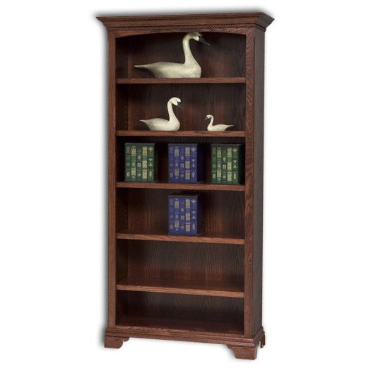 Amish USA Made Handcrafted Stockton Bookcase w-o Doors sold by Online Amish Furniture LLC