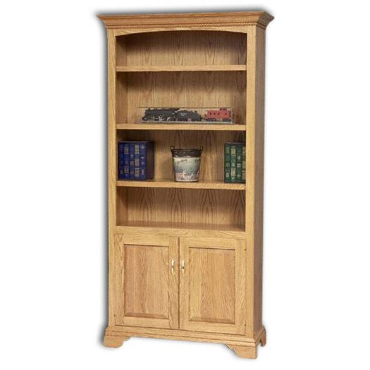 Amish USA Made Handcrafted Stockton Bookcase w- Doors sold by Online Amish Furniture LLC