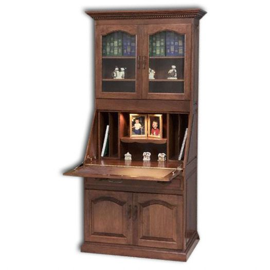 Amish USA Made Handcrafted Executive Deluxe Secretary Desk w- Doors sold by Online Amish Furniture LLC