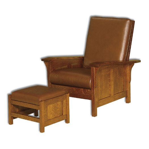 Amish USA Made Handcrafted Clearspring Panel Morris Chair sold by Online Amish Furniture LLC