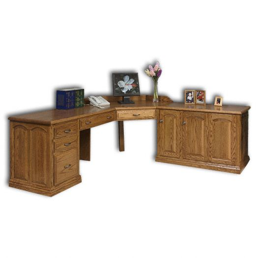 Amish USA Made Handcrafted L-Shaped Executive Desk sold by Online Amish Furniture LLC