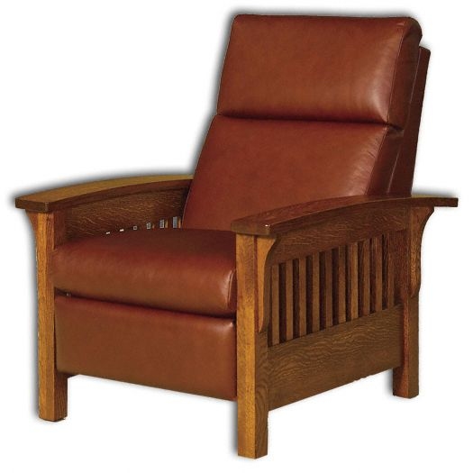 Amish USA Made Handcrafted Heartland Slat Recliner Chair sold by Online Amish Furniture LLC