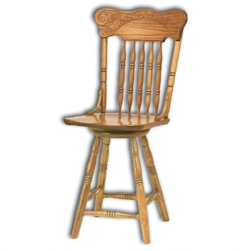 Amish USA Made Handcrafted Spring Meadow Pressback Bar Stool sold by Online Amish Furniture LLC