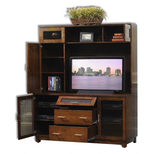Amish USA Made Handcrafted Urban Entertainment Center sold by Online Amish Furniture LLC