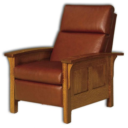 Amish USA Made Handcrafted Heartland Panel Recliner Chair sold by Online Amish Furniture LLC