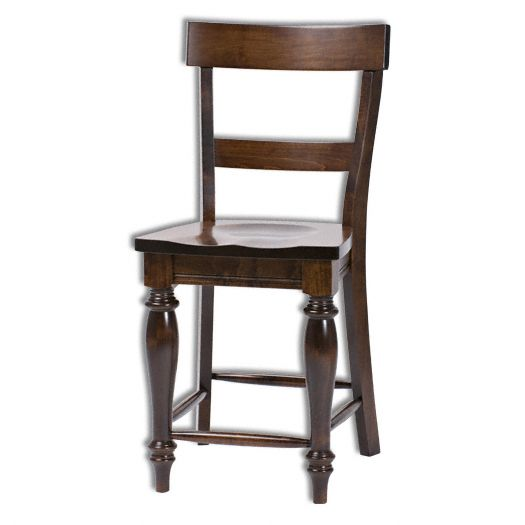 Amish USA Made Handcrafted Harvest Bar Stool sold by Online Amish Furniture LLC