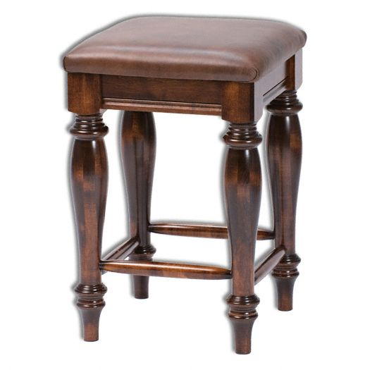 Amish USA Made Handcrafted Harvest Bar Stool without Back sold by Online Amish Furniture LLC