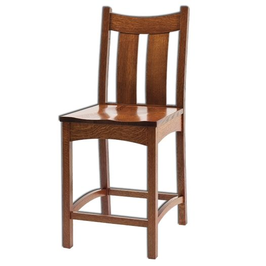 Amish USA Made Handcrafted Country Shaker Bar Stool sold by Online Amish Furniture LLC