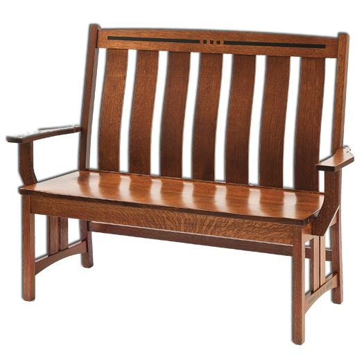Amish USA Made Handcrafted Colebrook Bench sold by Online Amish Furniture LLC