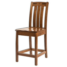 Load image into Gallery viewer, Amish USA Made Handcrafted Lavega Bar Stool sold by Online Amish Furniture LLC
