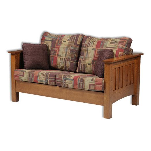 Amish USA Made Handcrafted YT Mission Loveseat sold by Online Amish Furniture LLC