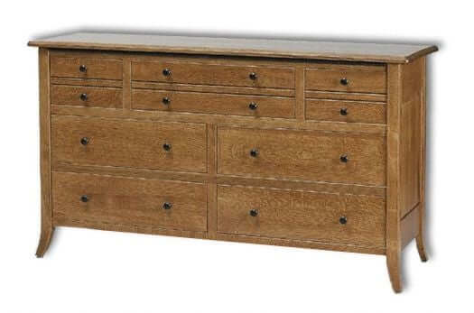 Amish USA Made Handcrafted Bunker Hill 60W Dresser sold by Online Amish Furniture LLC