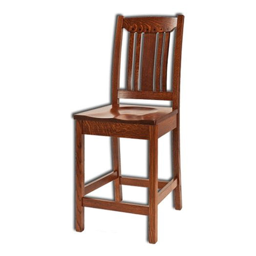 Amish USA Made Handcrafted Grant Bar Stool sold by Online Amish Furniture LLC