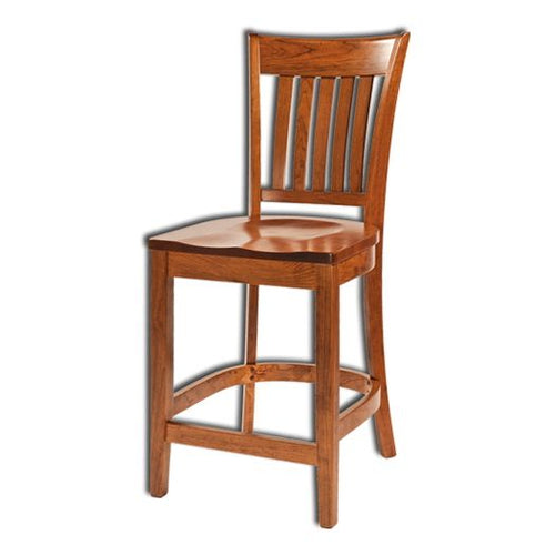 Amish USA Made Handcrafted Harper Bar Stool sold by Online Amish Furniture LLC