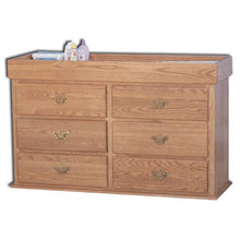 Load image into Gallery viewer, Amish USA Made Handcrafted Traditional 6 Drawer Changing Table - Dresser sold by Online Amish Furniture LLC