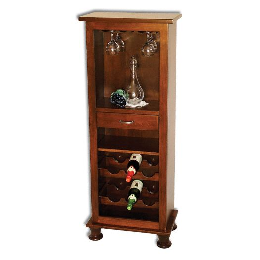 Amish USA Made Handcrafted Vinter Wine Tower sold by Online Amish Furniture LLC