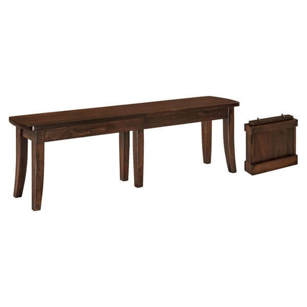 Amish USA Made Handcrafted Broadway Extenda Bench sold by Online Amish Furniture LLC