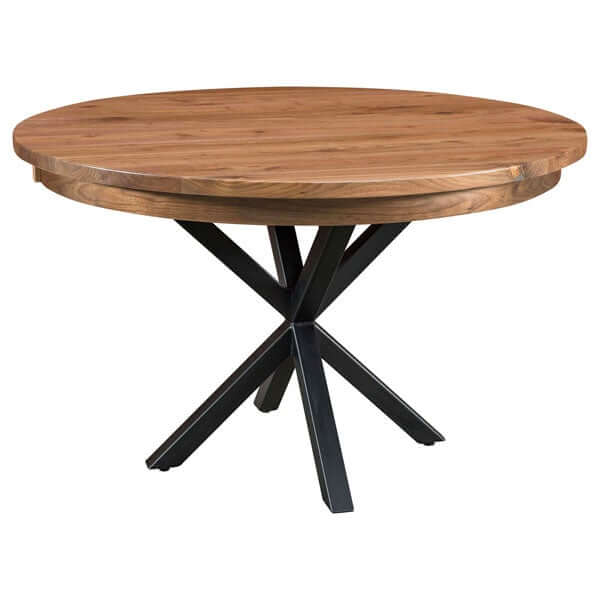 Amish USA Made Handcrafted Brooklyn Single Pedestal table sold by Online Amish Furniture LLC