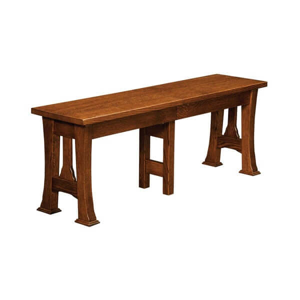 Amish USA Made Handcrafted Cambridge Extenda Bench sold by Online Amish Furniture LLC
