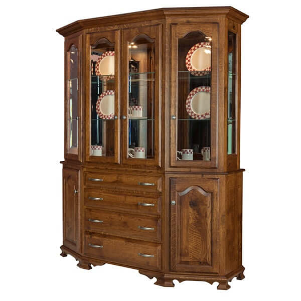 Amish USA Made Handcrafted Cantilever Hutch sold by Online Amish Furniture LLC