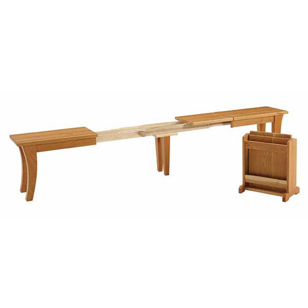 Amish USA Made Handcrafted Chandler Extenda Bench sold by Online Amish Furniture LLC