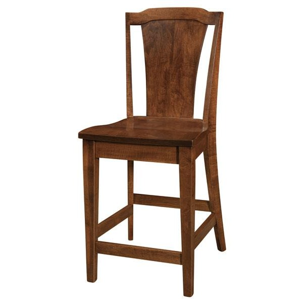 Amish USA Made Handcrafted Charleston Bar Stool sold by Online Amish Furniture LLC