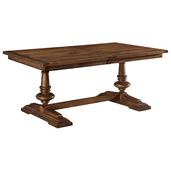Amish USA Made Handcrafted Clawson Trestle Table sold by Online Amish Furniture LLC