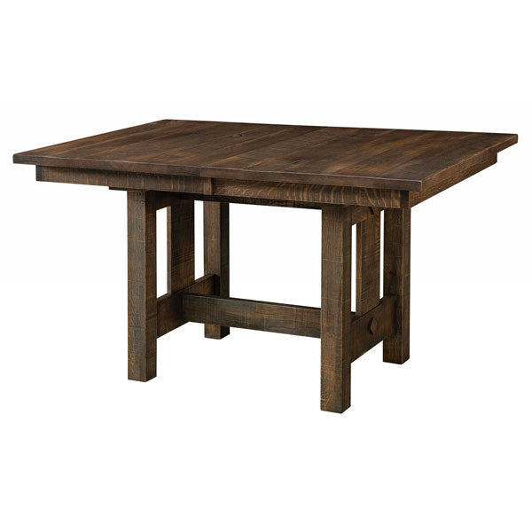 Amish USA Made Handcrafted Dallas Trestle Table sold by Online Amish Furniture LLC