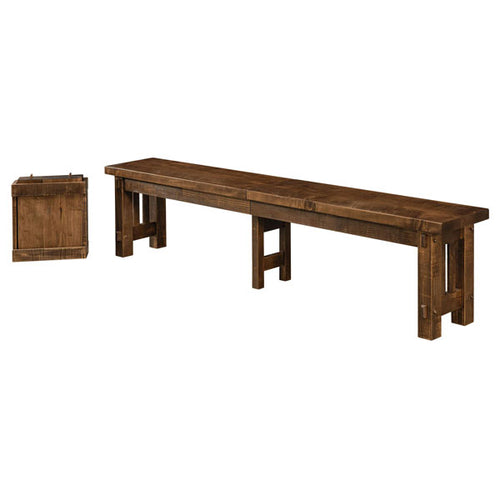Amish USA Made Handcrafted El Paso Extenda Bench sold by Online Amish Furniture LLC