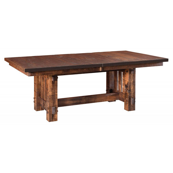 Amish USA Made Handcrafted El Paso Trestle Table sold by Online Amish Furniture LLC