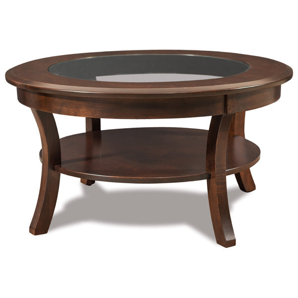 Sierra Round Glass Top Coffee Table