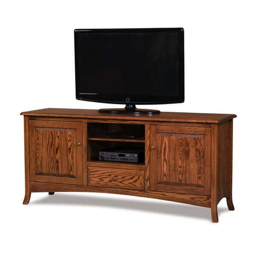 Amish USA Made Handcrafted Carlisle 2-Door, 1-Drawer Media Stand sold by Online Amish Furniture LLC