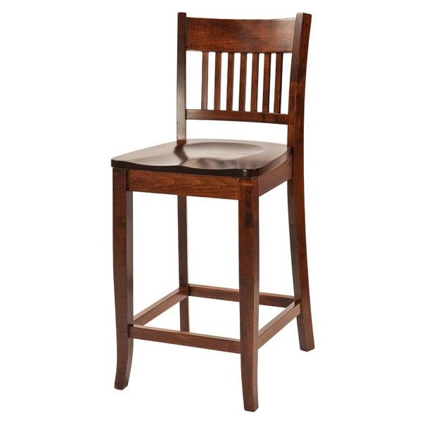 Amish USA Made Handcrafted Frankton Bar Stool sold by Online Amish Furniture LLC
