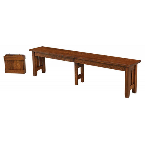 Amish USA Made Handcrafted Galena Extenda Bench sold by Online Amish Furniture LLC