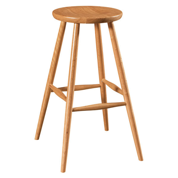 Amish USA Made Handcrafted Haskin Bar Stool sold by Online Amish Furniture LLC