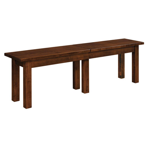 Amish USA Made Handcrafted Heidi Extenda Bench sold by Online Amish Furniture LLC