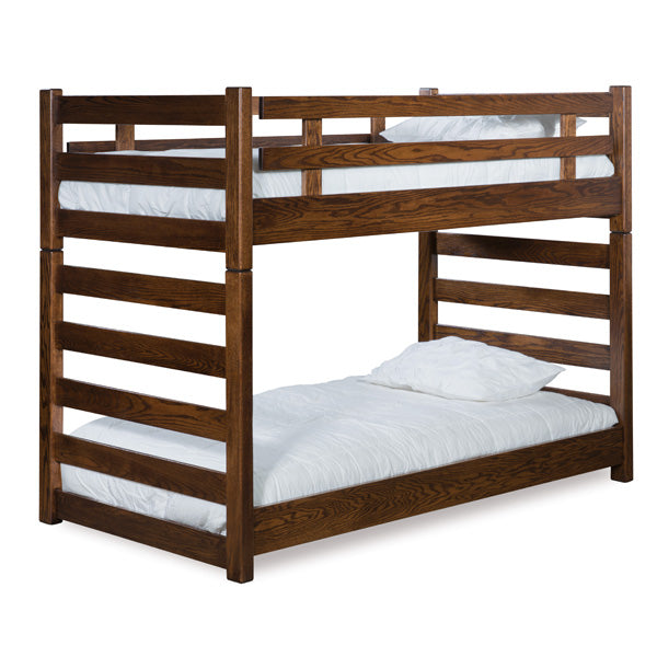 Amish USA Made Handcrafted Ladder Bunk Bed sold by Online Amish Furniture LLC