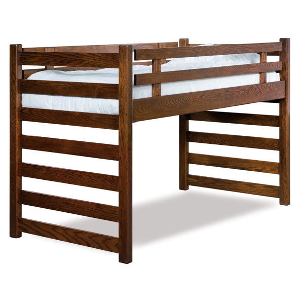 Amish USA Made Handcrafted Ladder Loft Bunk Bed sold by Online Amish Furniture LLC