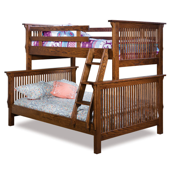 Amish USA Made Handcrafted Mission Bunk Bed sold by Online Amish Furniture LLC