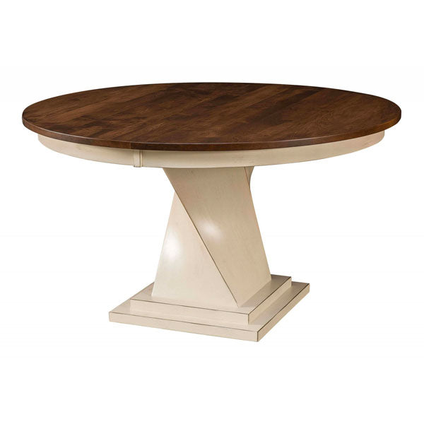 Amish USA Made Handcrafted Lexington Single Pedestal Table sold by Online Amish Furniture LLC