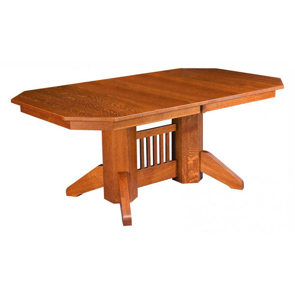 Amish USA Made Handcrafted Marbarry Double Pedestal sold by Online Amish Furniture LLC