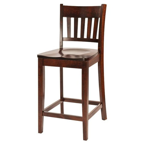 Amish USA Made Handcrafted Marbury Bar Stool sold by Online Amish Furniture LLC