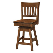 Load image into Gallery viewer, Amish USA Made Handcrafted Marbury Bar Stool sold by Online Amish Furniture LLC