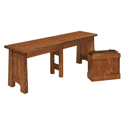 Amish USA Made Handcrafted McCoy Extenda Bench sold by Online Amish Furniture LLC