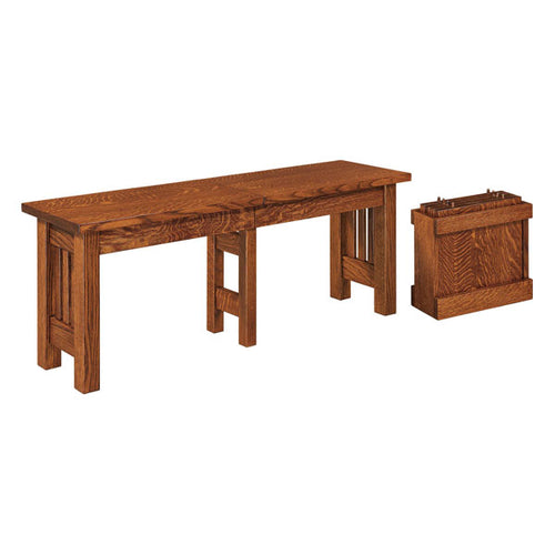 Amish USA Made Handcrafted Mission Extenda Bench sold by Online Amish Furniture LLC