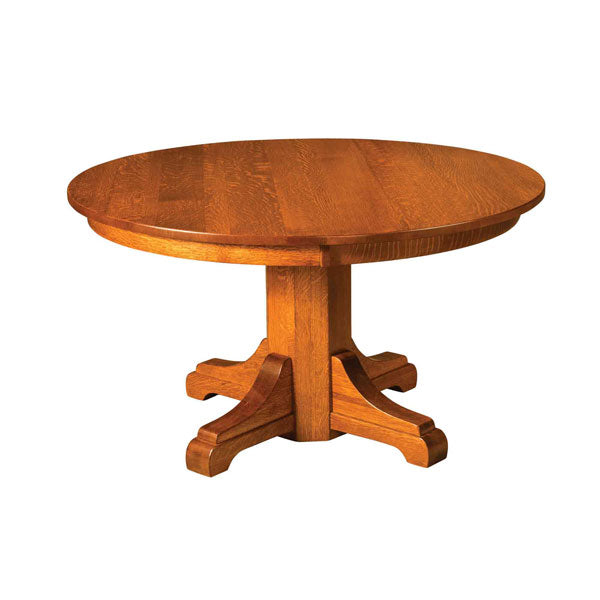 Amish USA Made Handcrafted Monteray Single Pedestal Table sold by Online Amish Furniture LLC