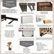 Load image into Gallery viewer, Traditional Nightstand with Changing Table